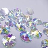 Satelite 8mm Crystal AB - Acryl Naaisteen_