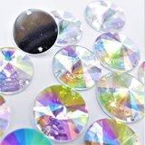 Satelite 12mm Crystal AB - Acryl Naaisteen_