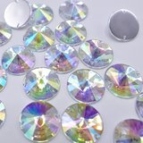 Satelite 14mm Crystal AB - Acryl Naaisteen_