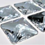 Vierkant 14x14mm Crystal - Acryl Naaisteen_