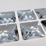 Vierkant 21x21mm Crystal - Acryl Naaisteen_