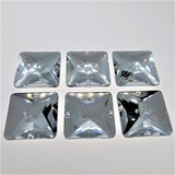 Vierkant 25x25mm Crystal - Acryl Naaisteen_