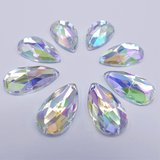 Druppel 14x24mm Crystal AB - Acryl Naaisteen_