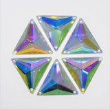 Driehoek 16mm Crystal AB - Acryl Naaisteen_