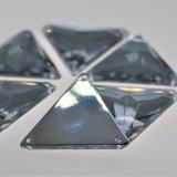Driehoek 12mm Crystal - Acryl Naaisteen_