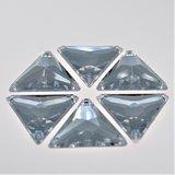 Driehoek 16mm Crystal - Acryl Naaisteen_