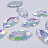 Paardenoog 17x32mm Crystal AB - Acryl Naaisteen_