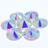 Rivoli 10mm Crystal AB - Glas Naaisteen_