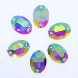 Ovaal 11x16mm Crystal AB - Glas Naaisteen_