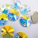 K9 Rivoli 10mm Crystal AB - Glas Naaisteen_