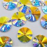 K9 Rivoli 12mm Crystal AB - Glas Naaisteen_