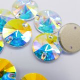 K9 Rivoli 14mm Crystal AB - Glas Naaisteen_