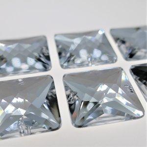 Vierkant 14x14mm Crystal - Acryl Naaisteen
