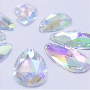 Druppel 12x20mm Crystal AB - Acryl Naaisteen