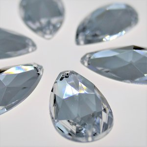 Druppel 14x24mm Crystal - Acryl Naaisteen