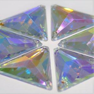 Driehoek 12mm Crystal AB - Acryl Naaisteen