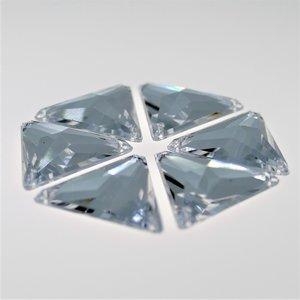 Driehoek 12mm Crystal - Acryl Naaisteen