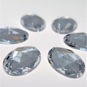 Ovaal 18x25mm Crystal - Acryl Naaisteen