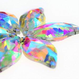 Diamond Leaf 10x20mm Crystal AB - Glas Naaisteen