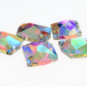 Cosmic 11x14mm Crystal AB - Glas Naaisteen
